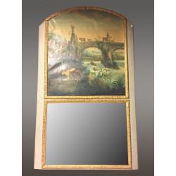 Großer Trumeau-Spiegel im Stil Louis XIV