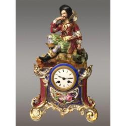 Porzellan-Uhr 1830 Jacob Petit Stil