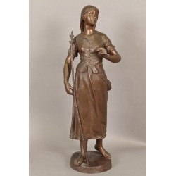 Großer Bronze signierter Marioton