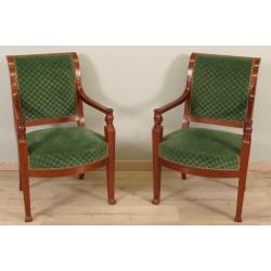 Paar Sessel Rückkehr aus dem ägyptischen Konsulat
