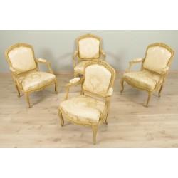 Sessel und Sessel im Stil Louis XV Gestell