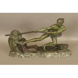 Bronze Art-deco signiert Ouline