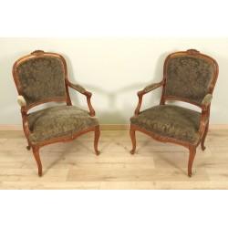 Paar Stühle im Übergangsstil