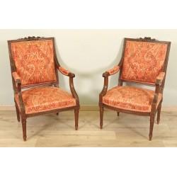 Paar Sessel im Stil Louis XVI