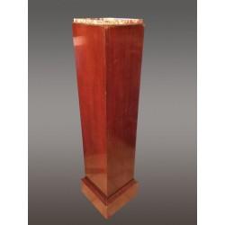 Mahagoni-Art-deco-Säulendeckel