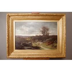 Landschaft von Léon Humbert Anthelme Anthelme Dallemagne