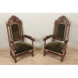 Paar Sessel im Stil Louis XIII