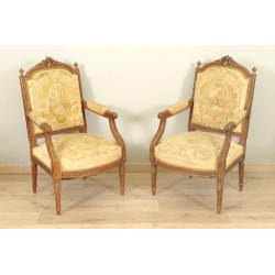 Sessel im Stil Louis XVI Petit Point