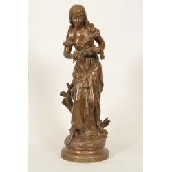 Bronzene Ophelia von Hippolyte Moreau