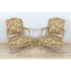 Paar Sessel im Stil Louis XV
