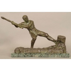 Art-Deco-Bronze, signiert Ouline
