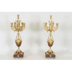 Paar Kandelaber im Stil Louis XVI