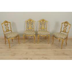 Stühle Goldenes Holz Napoleon III