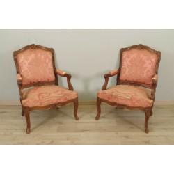 Paar Sessel mit flacher Rückenlehne im Stil Louis XV