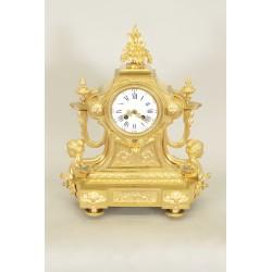 Goldene Bronze-Uhr Napoleon III