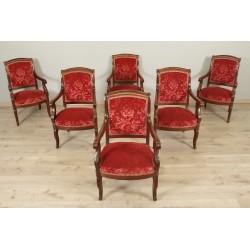 Sechs Sessel aus der Restaurierungszeit