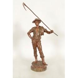 Bronze-Skulptur Le Soir von Marcel Debüt