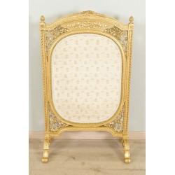 Kamingitter im Stil Louis XVI Goldenes Holz