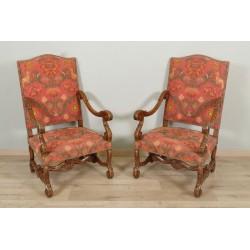Paar Louis XIV Stil Sessel