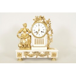 Louis XVI Stil vergoldete Bronze Uhr