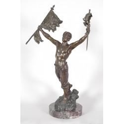 Bronze signé D.Grisard : Victoire
