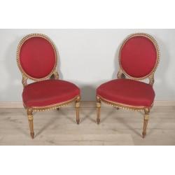 Paar Louis XVI Stil Stühle