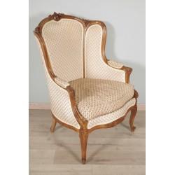 Bergère à Oreilles Style Louis XV 1900 Noyer