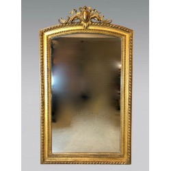 Vergoldeter Holzspiegel Napoleon III