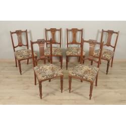Sechs Mahagoni-Stühle im englischen Stil