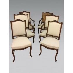 Wohnzimmer 4 Sessel zwei Stühle Louis XV Stil