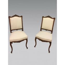 Paar Stühle im Stil Louis XV