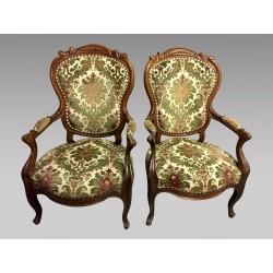 Paar Sessel Napoleon III