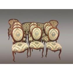 Großer Salon Mahagoni Napoleon III 12 Stücke