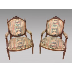 Paar Sessel im Louis XVI-Stil