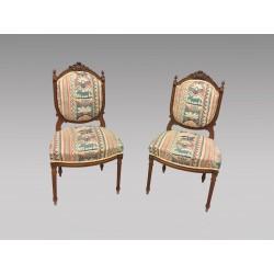 Paar Stühle im Louis XVI-Stil