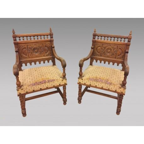 Paar Sessel im Renaissance-Stil