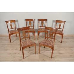 Six chaises style Empire estampillées Mailfert