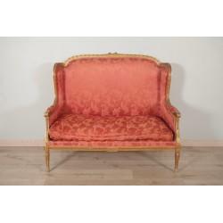 Vergoldetes Sofa im Louis XVI-Stil