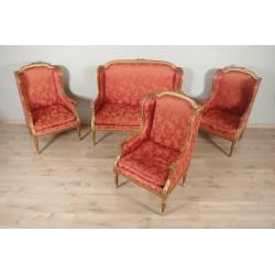 Salon style Louis XVI bois doré